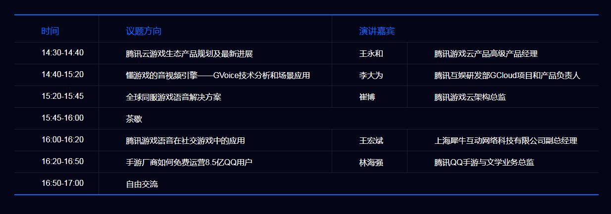「腾讯云 GAME-TECH 沙龙」9 月15 日上海站,畅谈游戏实时社交